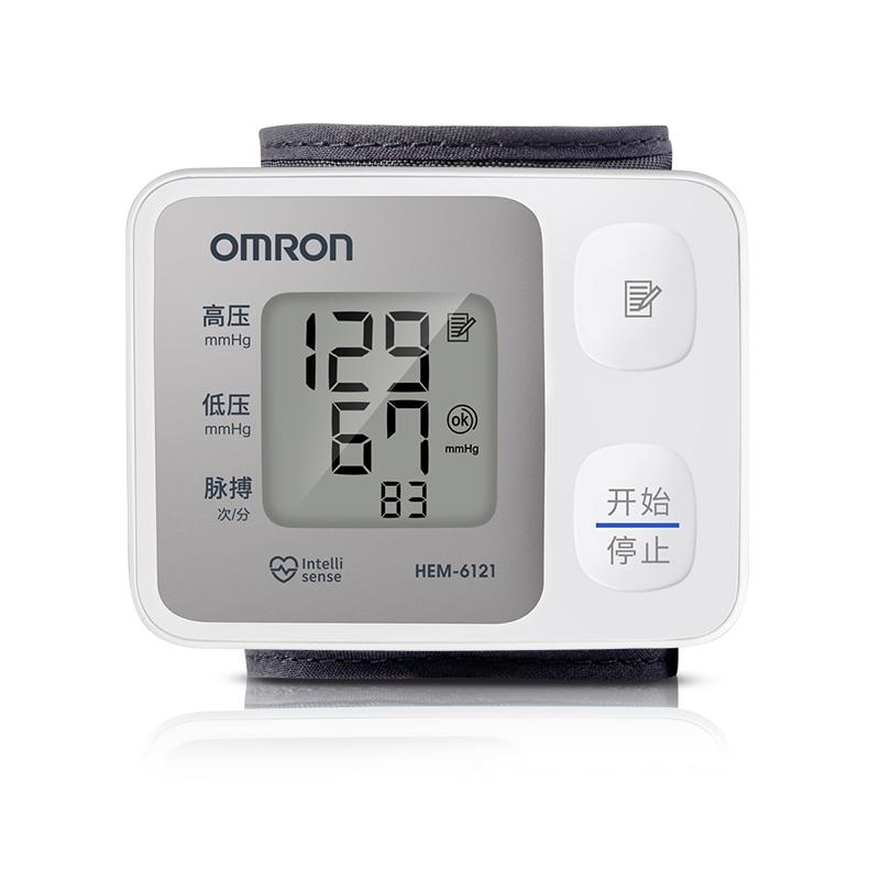 欧姆龙腕式电子血压计医用家用腕式全自动测量 HEM6121