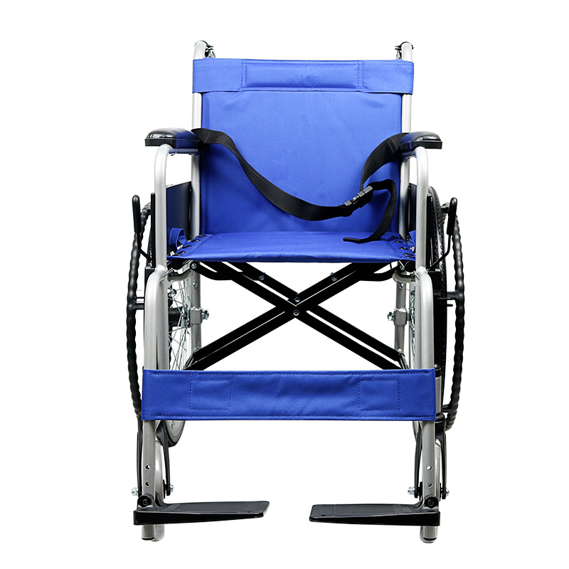 互邦 铝合金轮椅HBL20-RZ22 实心胎可折叠