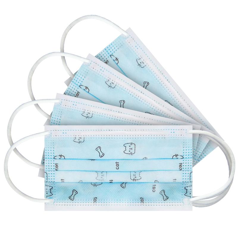 【24小时内发货】一次性使用医用外科口罩三层防护无菌防尘透气(儿童可用)60个