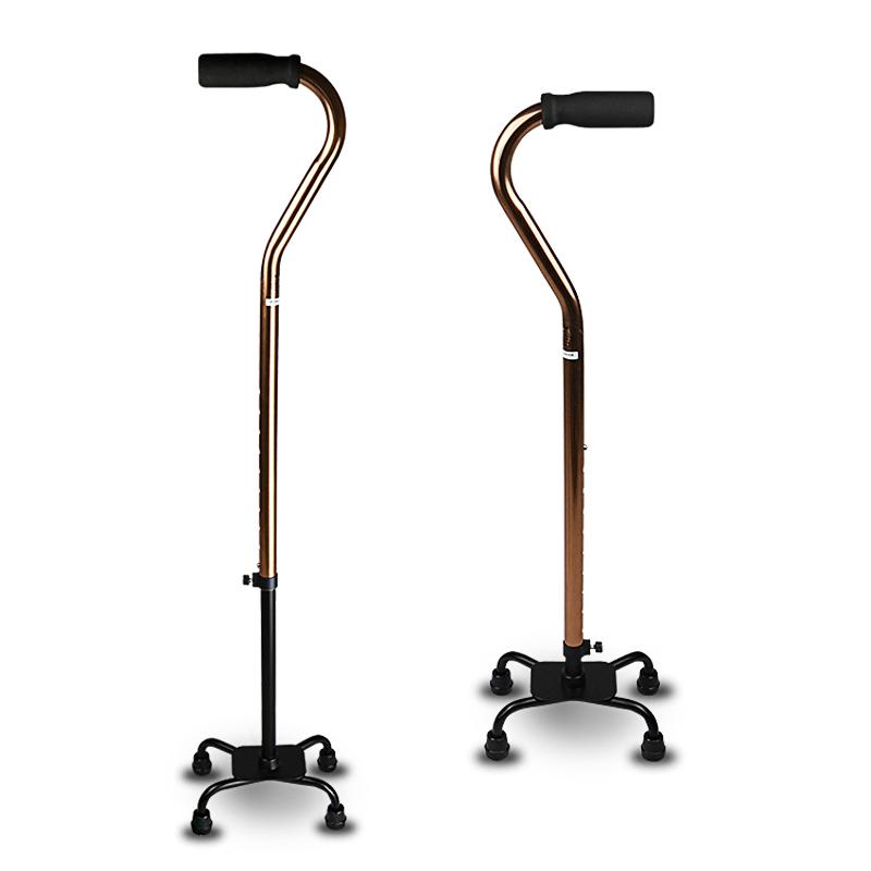 鱼跃助行器铝合金四脚拐杖手杖型 YU850