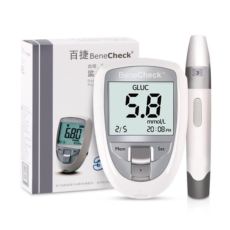 百捷尿酸血糖总胆固醇检测仪+血糖试纸25片/瓶