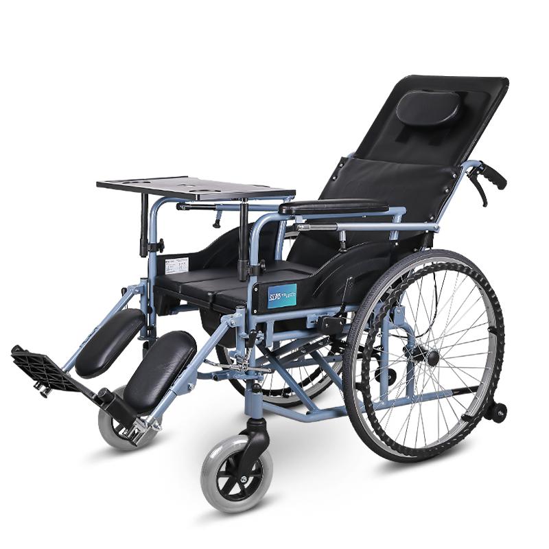 互邦 铝合金手动轮椅车多功能半躺轮椅 HBL10-B