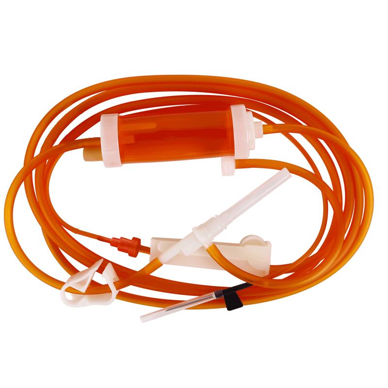 洪达一次性使用避光输液器医用无菌静脉配7号针头10套