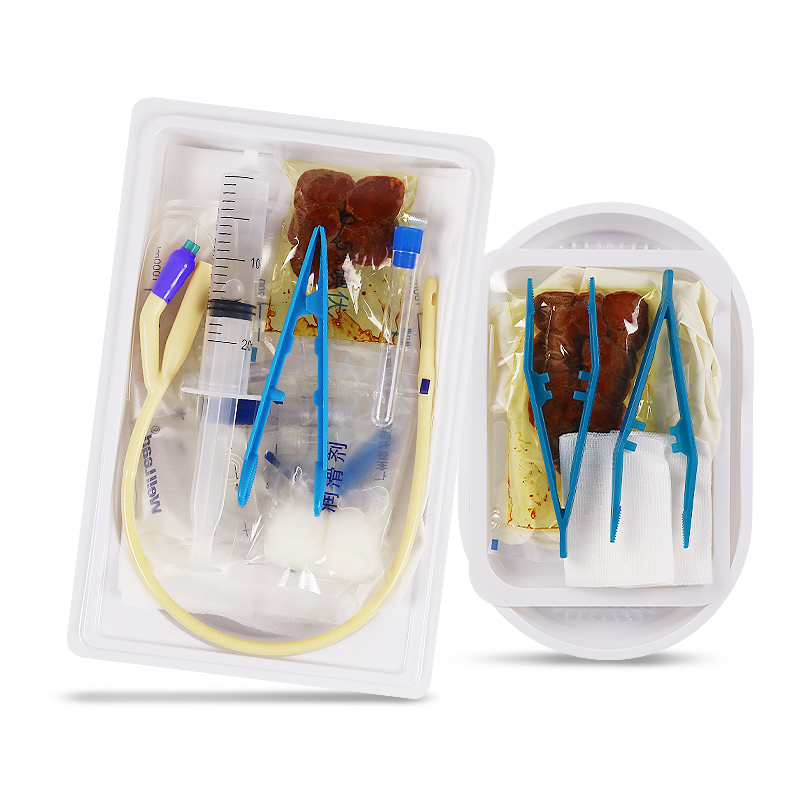 维力 超滑导尿包无菌医用配乳胶双腔导尿管22号