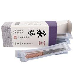 华佗一次性针灸针 承臻紫铜柄环柄针0.18*25mm  纸塑装*3盒