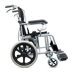 助邦折叠小巧型手动轮椅SYIV100-ZB-17(全钢喷涂低靠背软座后轮16寸(黑色))