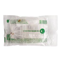 必康 一次性使用袋式输液器 带针  0.7*25 TWSB(黑)20个/袋