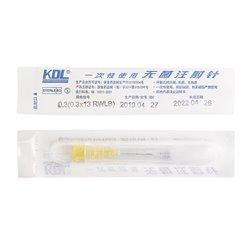 康德莱一次性无菌注射器针头 0.3*13RWLB 黄色 100支/盒