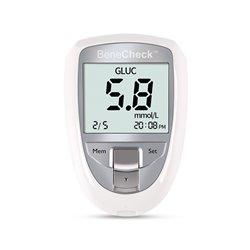 百捷尿酸血糖总胆固醇检测仪机器+尿酸试纸10片