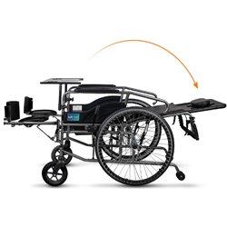 互邦 钢管手动轮椅折叠全躺BFQ(实心胎带手刹)